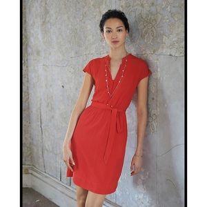 Anthropologie Maeve Odilia shirt orange dress